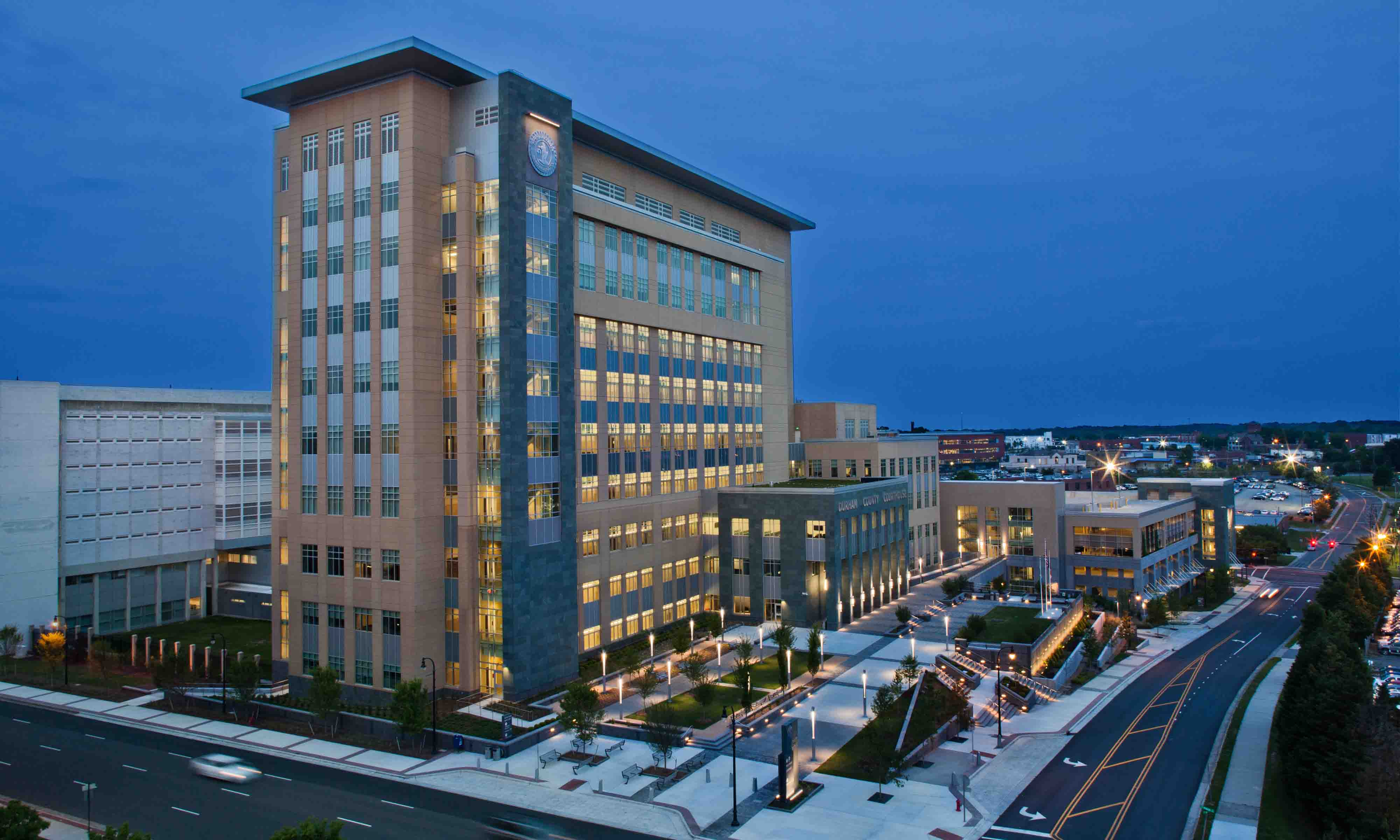 Durham County Courthouse and Parking Deck - O'Brien Atkins